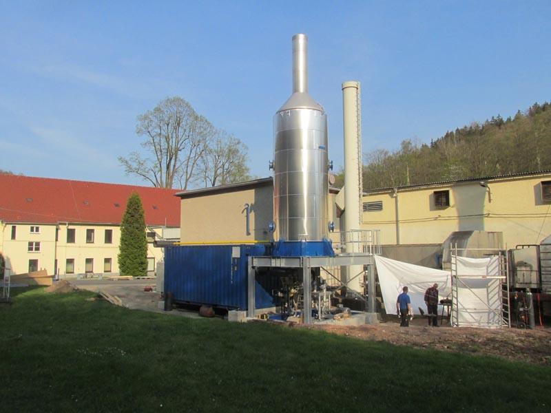 Hagelschuer Referenz für Papier und Wellpappe Aufbau der Dampfkessel
